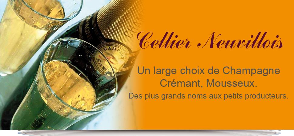 vente de champagne, crémant, mousseux